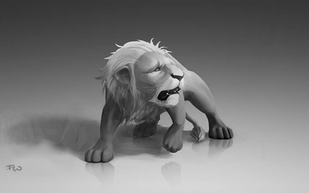 オズの魔法使い-臆病なライオン