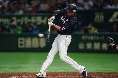 【日米野球】柳田の「独創的な」フルスイングにMLB公式も注目「シリーズMVPが待っている」