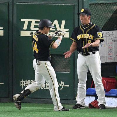 阪神8回一挙6点大逆転、金本監督「勢いを地元で」