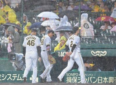 阪神-DeNA戦は雨天ノーゲーム劣勢の阪神、借金2桁免れる