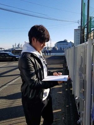 "DeNA・砂田の""神対応""練習予告&1時間以上「青空サイン会」"