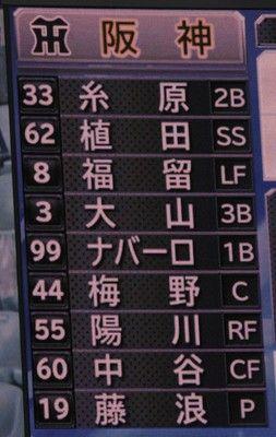 阪神、4番は大山糸井は「左肩腱板の部分損傷」で抹消中日戦スタメン発表