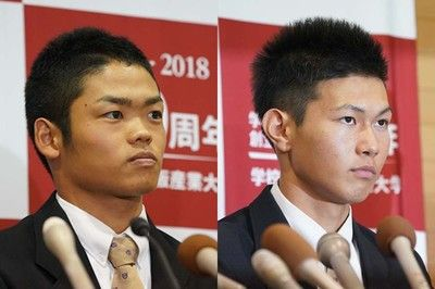【ドラフト】大阪桐蔭・根尾が中日、藤原はロッテが1位指名同一校では史上初のドラ1野手誕生