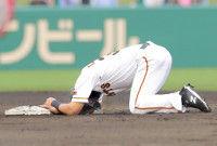 【巨人】ビヤヌエバ「骨じゃない。筋肉」けん制球直撃で交代も軽症