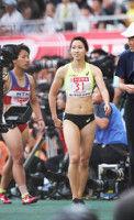 福島千里、100M全体トップで決勝進出