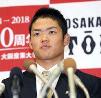 【ドラフト】4球団競合の大阪桐蔭高・根尾は中日の1位指名に「思い入れのあるチーム。何か縁がある」