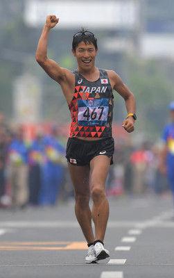 <アジア大会>男子50キロ競歩、勝木が金驚異の追い上げ