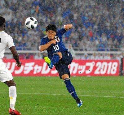 香川真司が途中出場7カ月ぶり代表戦出場、積極的にゴール狙う