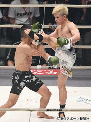 【RIZIN】那須川が判定で堀口に勝利「自分のルールで戦ってくれたことに感謝」
