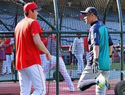 大谷に「人種差別」騒動…MLBがツイート削除イチローとの談笑画像に問題か