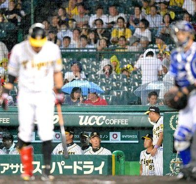 阪神 助かった…劣勢も降雨ノーゲーム恵みの雨に金本監督「流れも変われるように」