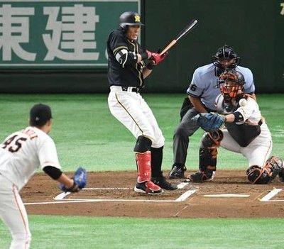 阪神糸井イタッ1回左手首付近に死球、2回退く