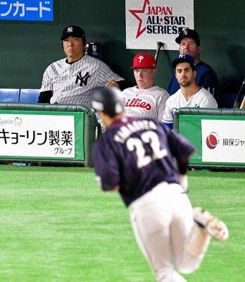 松井秀喜氏、柳田のパワーを絶賛「逆方向にあれだけ。日本人バッターにいなかった」