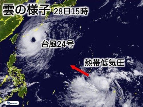 台風24号 天気 台風予備軍 発生 週末に関連した画像-01
