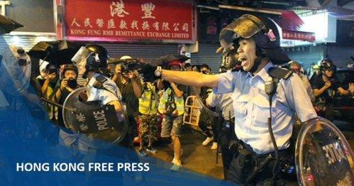 Démonstration à Hong Kong de munitions réelles à la police des évacués criminels Image relative à l'incident de Tiananmen-01