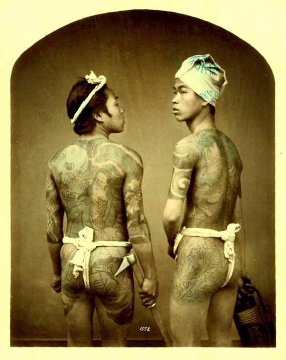 Cc japanese tattoo photographs in 19th century paprique for 19th century tattoos