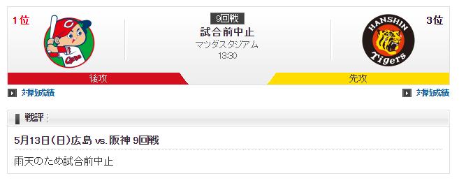 20180513阪神戦雨天中止2
