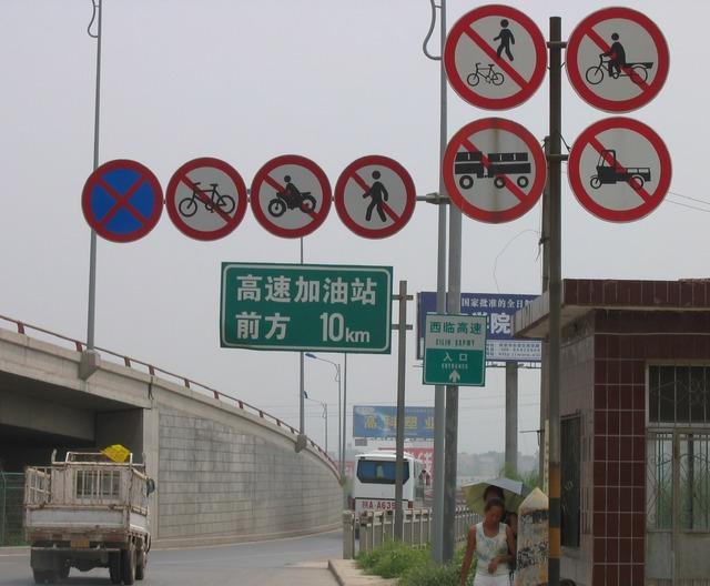 Road_sign_Xi'an-Lintong_China