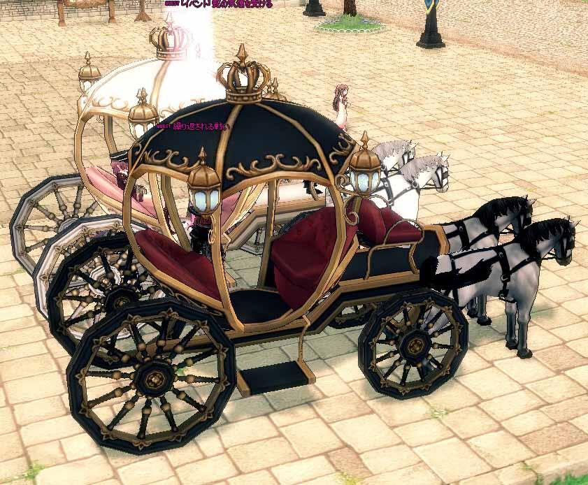 ハロウィンの馬車はパートナーの貴族馬車の単なる色違いだった!|マナビノギ