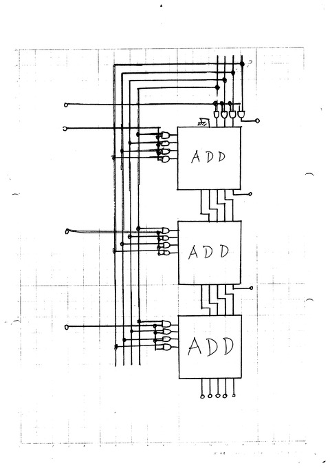 JM6NUM : 2進數の乗算器です