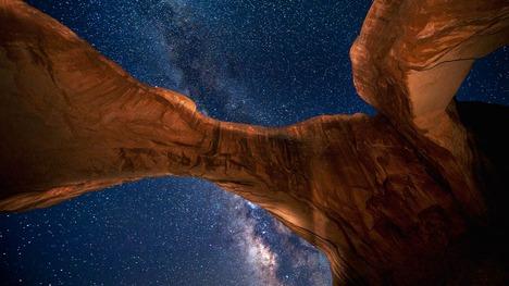 131112アーチーズ国立公園と銀河@アメリカ ユタ州