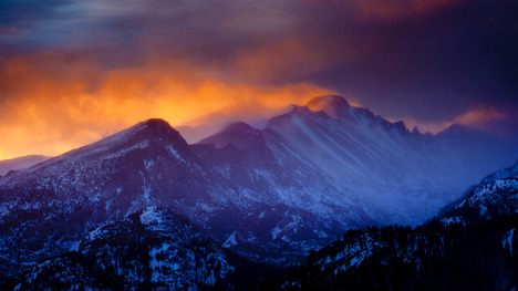 140904雲立つ北米大陸の背骨@アメリカ コロラド州