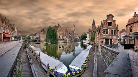 140726ブルッヘの運河@ベルギー ブルッヘ