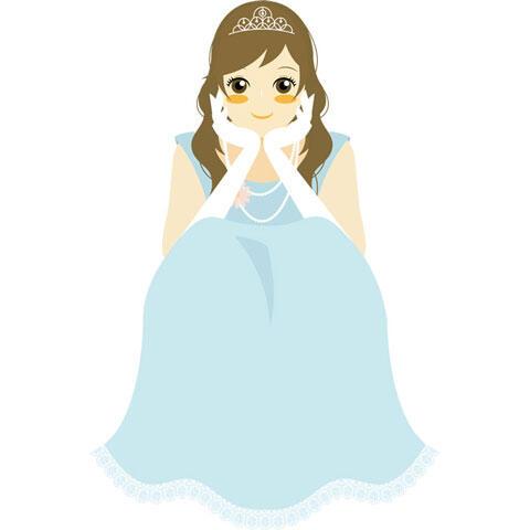 ウェディングドレス姿で頬に手を当てる花嫁