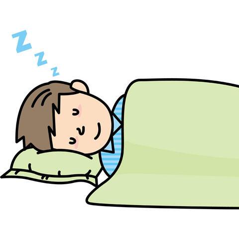 熟睡している男性