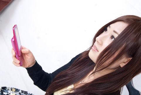 ケータイショップのお姉さんのイメージ