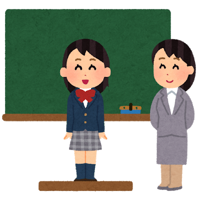 school_kokuban_happyou_tenkousei_woman