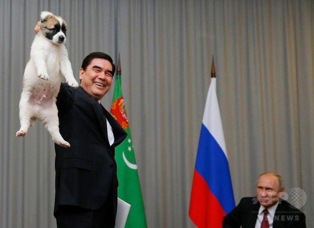 プーチン「てめえ…犬の持ち方違うだろうが」