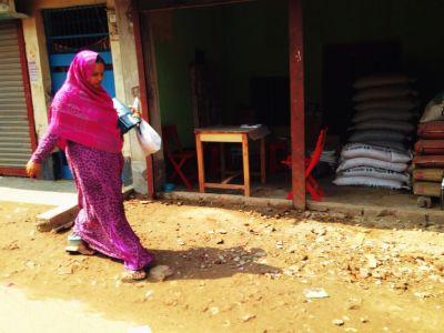 サリーを着たバングラデシュ人