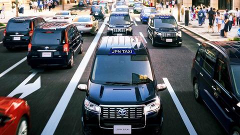 都内のタクシー