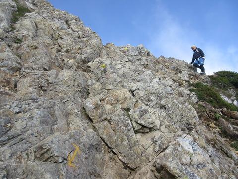 IMG_5025岩場の難所 鎖がない場所