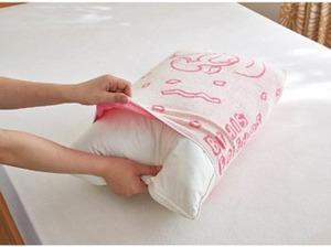スヌーピー枕カバー3色(ピンク茶色青)3-1[1]