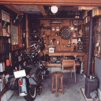 ab232628ca6b276de9d08af56a256f97--ガレージ-diy-garage-house