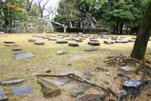 Ruins of Living Room for Empress Consort of Emperor Meiji