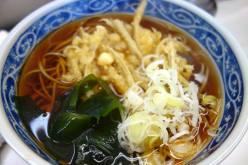 Vegetable Tempura Soba Noodle Soup