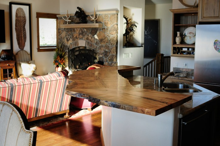 Kitchen Island Wood Countertop in Steamboat