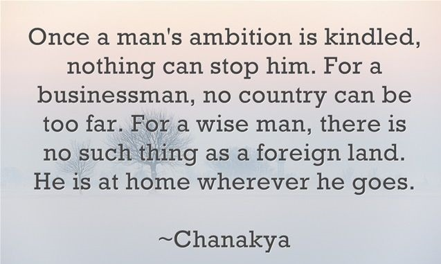 Quote on ambition