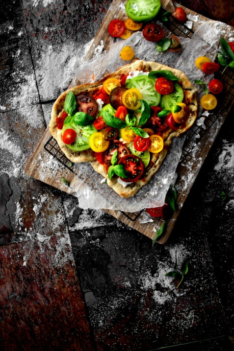 Heirloom Caprese Flatbread | A Bachelor and His Grill