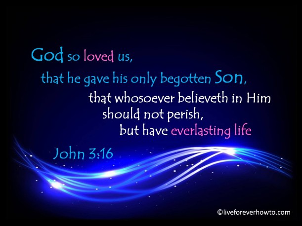 John 3:16 God so loved the world