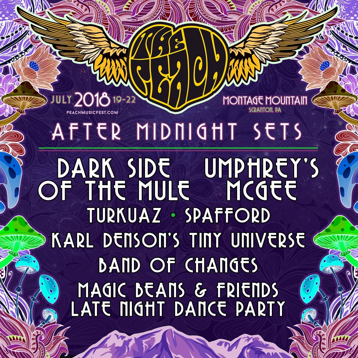 The Peach Music Festival Announces 2018 Quot After Midnight