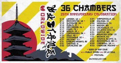 wu-tang, 36 chambers tour, 36 chambers, wu-tang clan tour, wu-tang clan