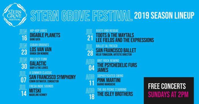 San Francisco's Stern Grove Festival Announces 2019 Lineup: Galactic