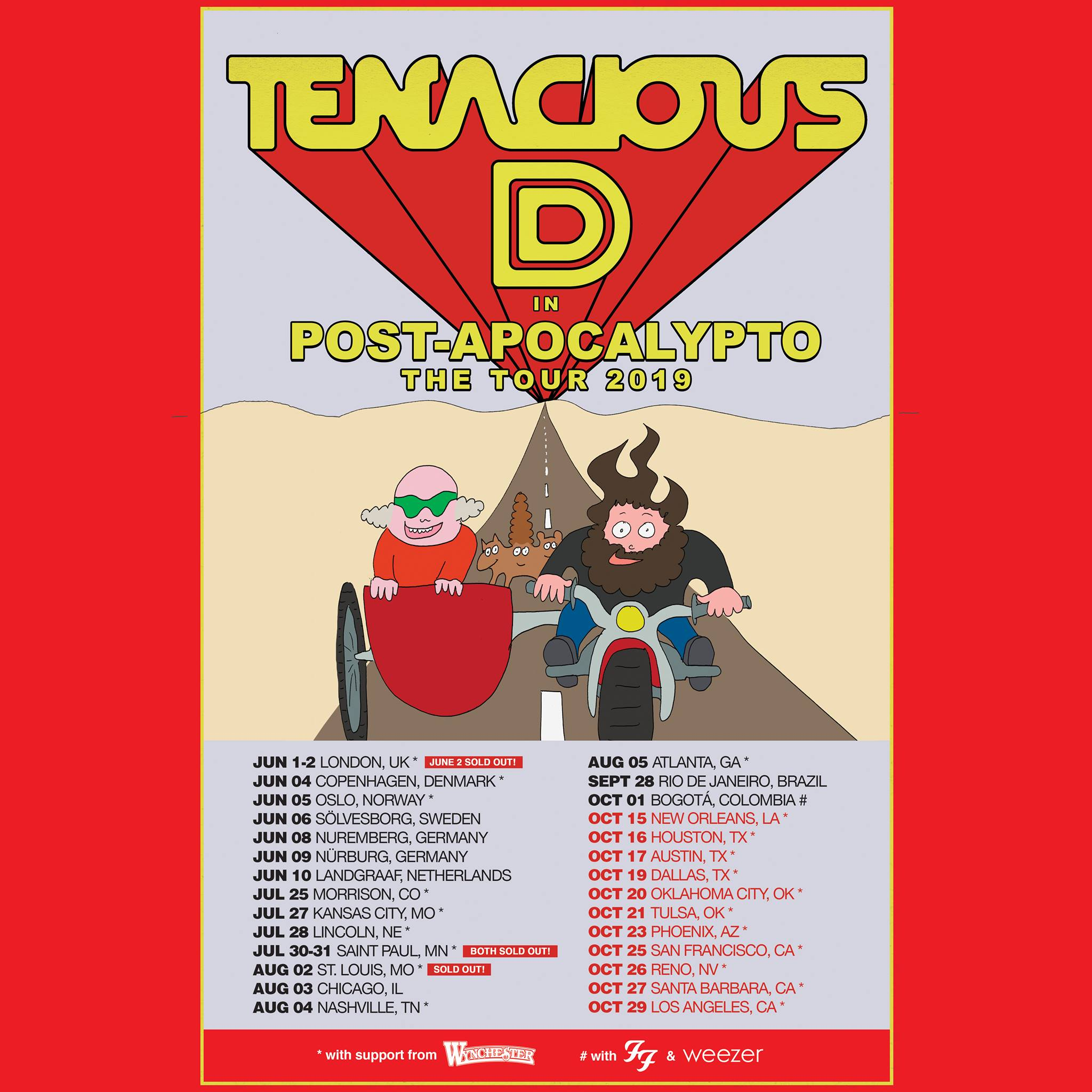 Tenacious D Announces 2019 Fall Tour Dates
