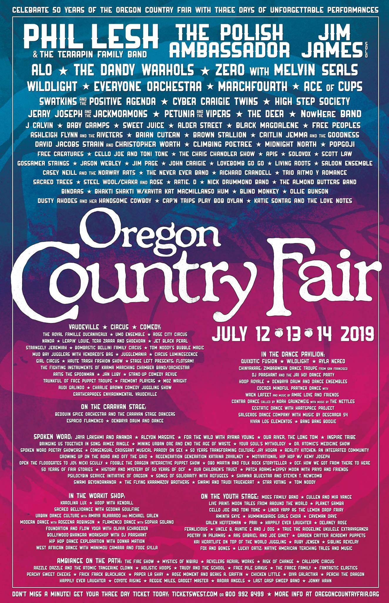 Oregon Country Fair Announces 2019 Lineup: Phil Lesh & The
