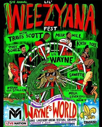 lil weezyana fest 2019, lil weezyana fest, lil weezyana fest 2019 tickets, lil weezyana fest 2019 lineup