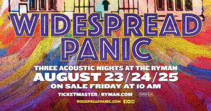 Widespread Panic Nashville, Widespread Panic Ryman, Widespread Panic tickets